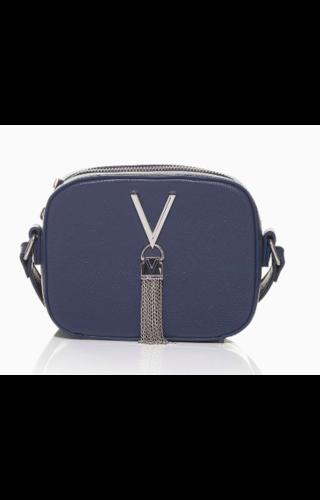 Valentino Handbags Divina Schoudertasje Box Blauw