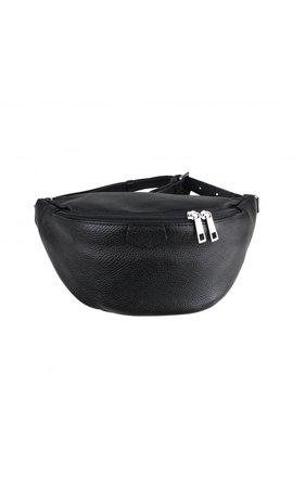 Baggyshop Fanny pack XL zwart/zilver