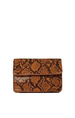 Pieces Julie Belt Bag Snake Cognac
