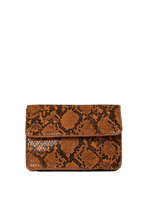 Julie Belt Bag Snake Cognac