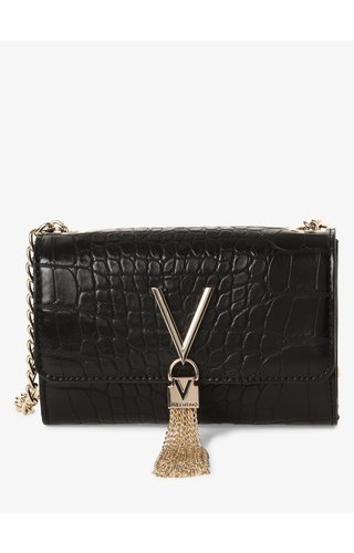 Valentino Handbags Audrey schoudertasje Croco Zwart