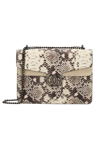 IT BAGS Inspired Snake Bag Taupe