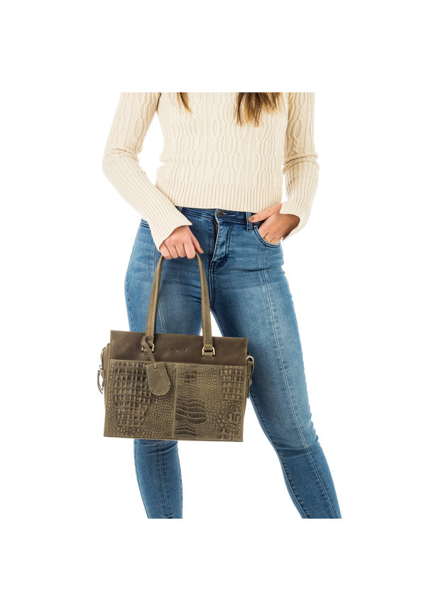 About Ally Handbag S Swamp groen