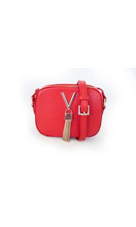 Valentino Handbags Divina schoudertasje box rood