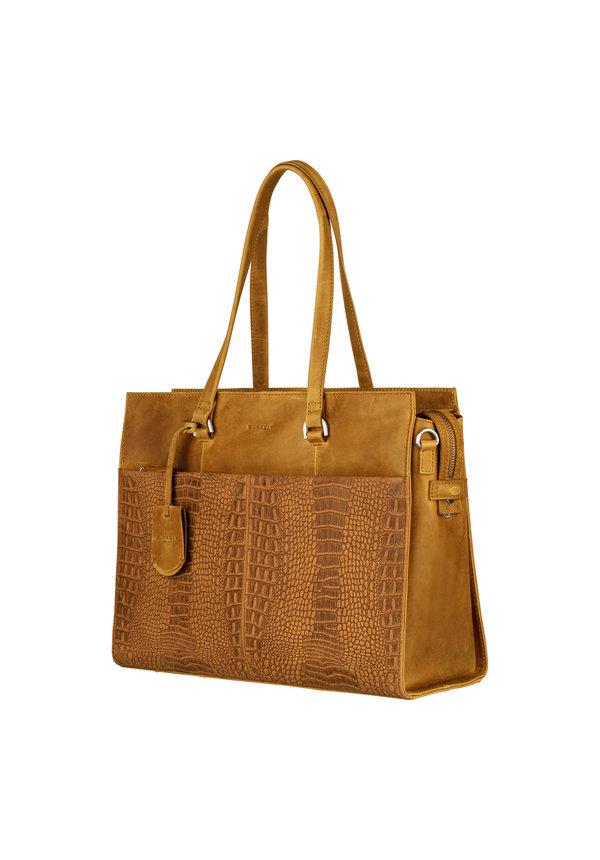 About Ally Workbag Ocher Geel