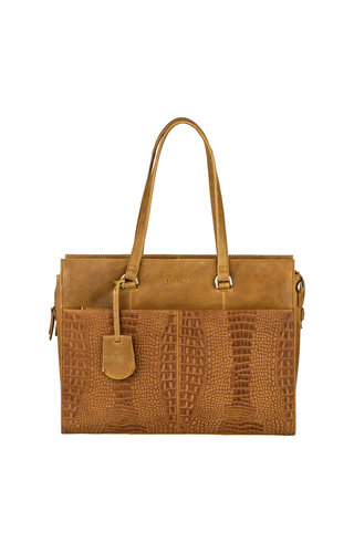 Burkely About Ally Workbag Ocher Geel