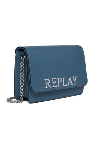 Replay Logo Crossbody Indigo Blue