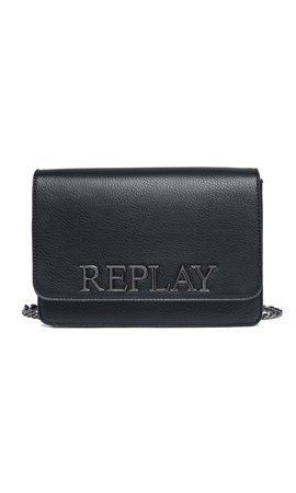 Replay Logo Crossbody Black
