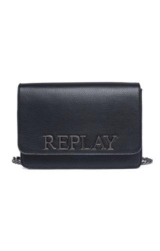 Replay Logo Crossbody Black