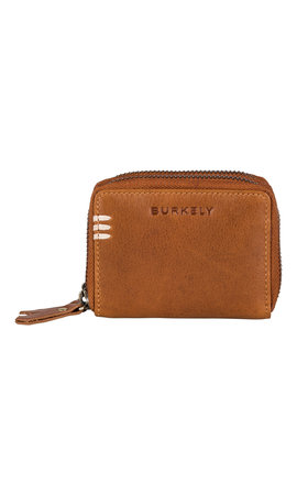 Burkely Craft Caily Wallet Double Zip Cognac