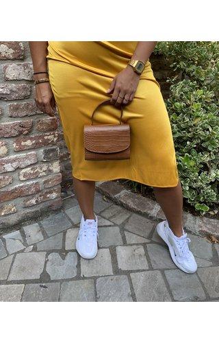 Baggyshop Mini bag croco cognac
