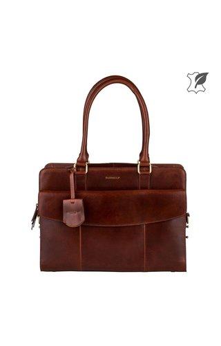 Burkely Edgy Eden Workbag 14 inch Brandy bruin