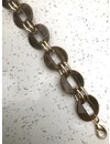 Chain Marble Bag Strap Brown