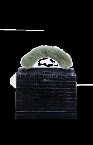 Inyati Olivia Handbag croco black