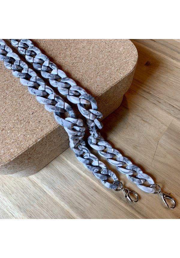 Chain Handle Marble Long