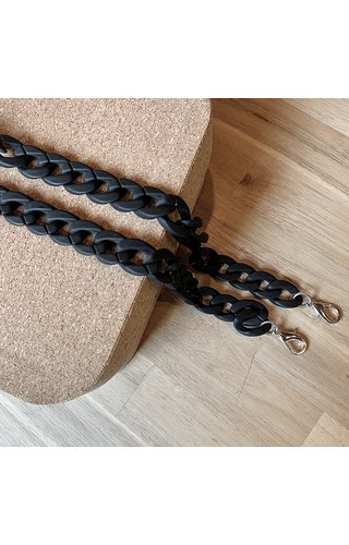 IT BAGS Chain Handle Matt Black Long