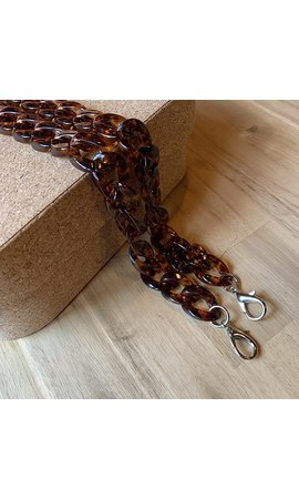 IT BAGS Chain Handle Brown Long