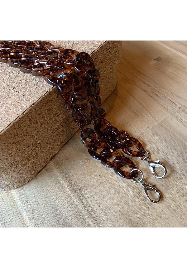 Chain Handle Brown Long