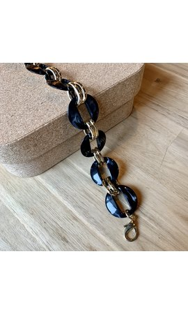 IT BAGS Chain Marble Bag Strap Black