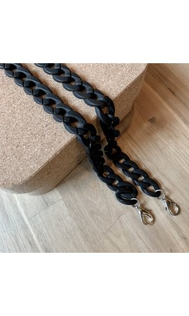 IT BAGS Chain Handle Matt Black Short
