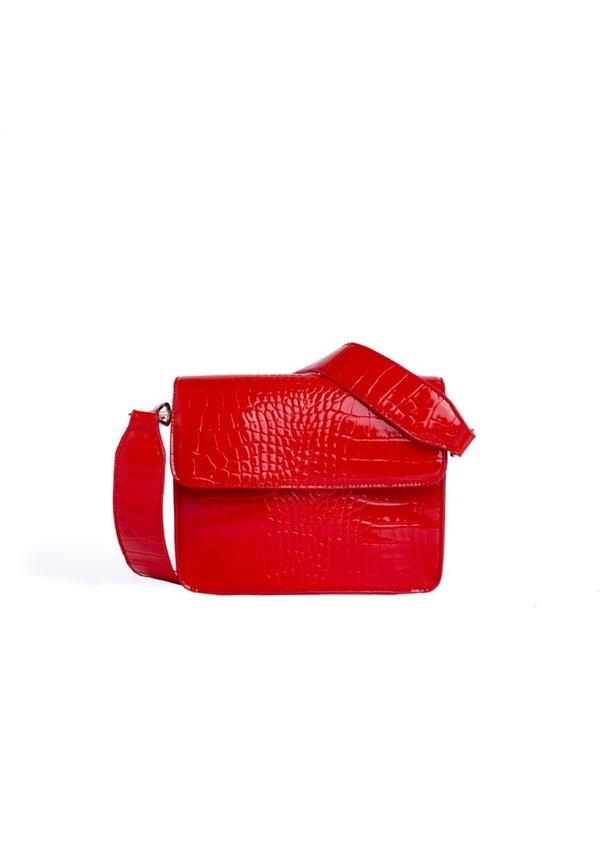 Cayman Shiny Strap Bag Red