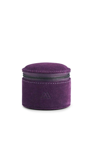 MarkBerg Lova Jewelry Box S Suede Dark Purple