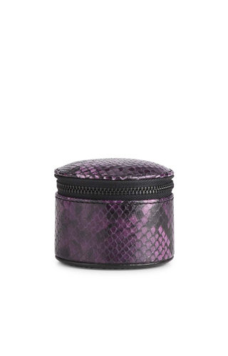 MarkBerg Lova Jewelry Box S Snake Dark Purple