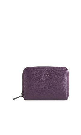 MarkBerg Selma Wallet Grain Dark Purple