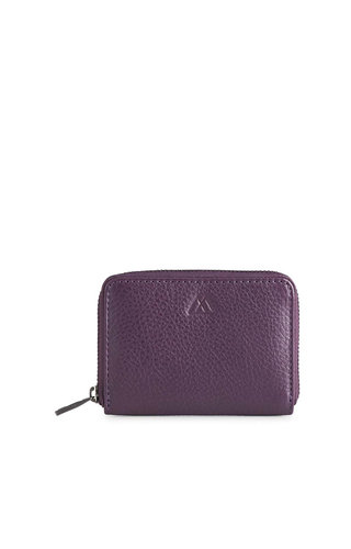 MarkBerg Selma Wallet Grain Dark Purple