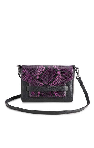 MarkBerg Vanya Crossbody Snake Dark Purple