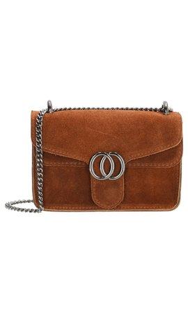IT BAGS Inspired Dubbel O Bag Cognac
