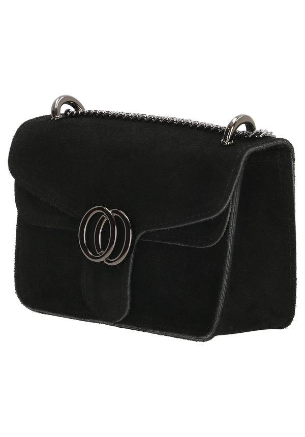 Inspired Dubbel O Bag Zwart