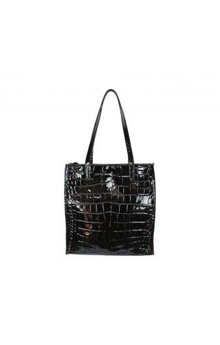 Baggyshop Paper bag Lakleer Zwart