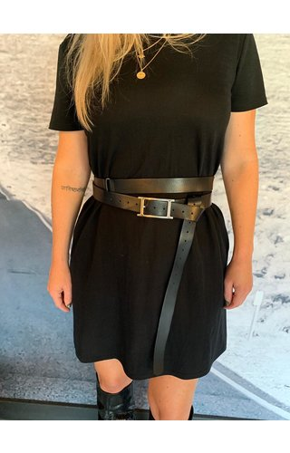 Elvy Double waist belt black