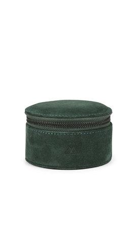 MarkBerg Lova Jewelry Box L Suede Dark Green