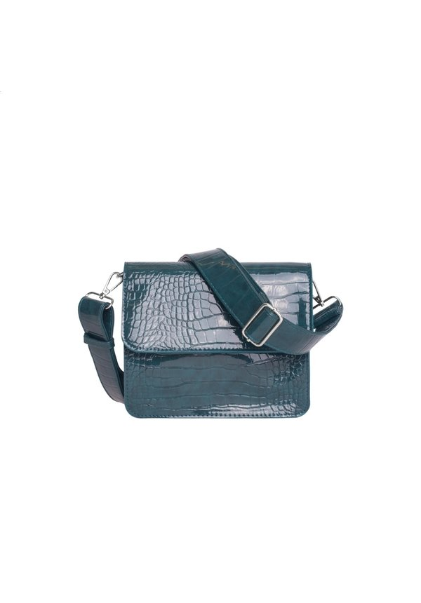 Cayman Shiny Strap Bag Petroleum