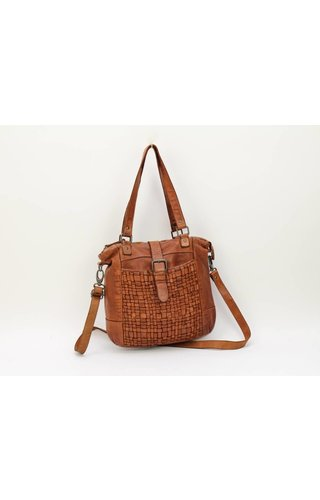BearDesign Shopper CL32650 Gevlochten Cognac