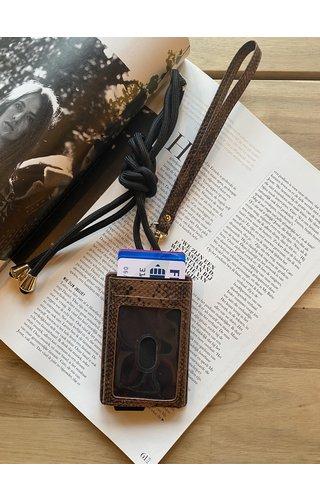 ikki Card Wallet Snake Brown