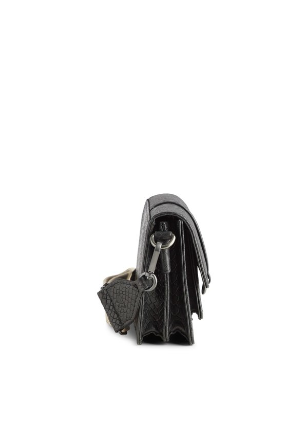 Milena Crossbody Bag Snake Black w/Camel + Gunmetal Strap