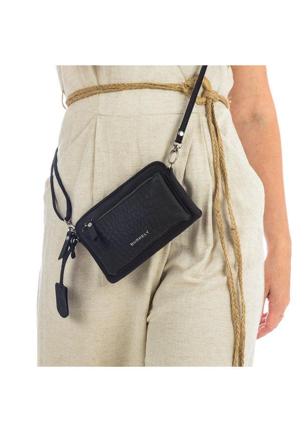 Croco Cody Minibag Black