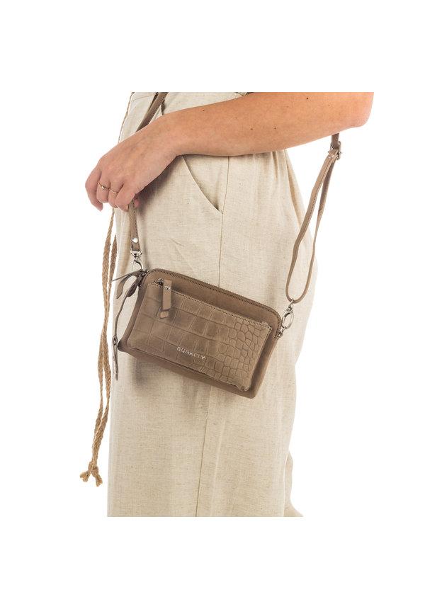 Croco Cody Minibag Dark Grey