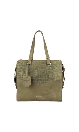 Burkely Croco Cody Handbag M Light Green