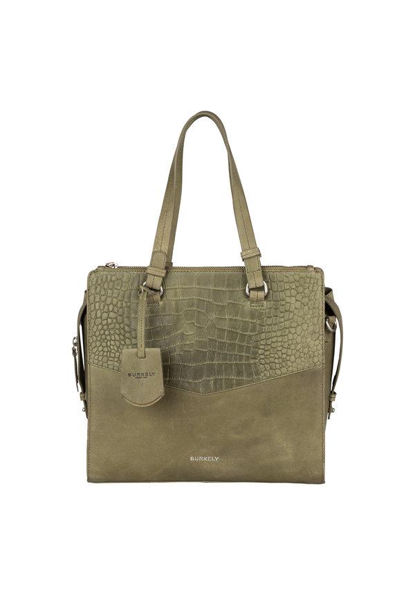 Croco Cody Handbag M Light Green