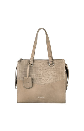 Burkely Croco Cody Handbag M Dark Grey