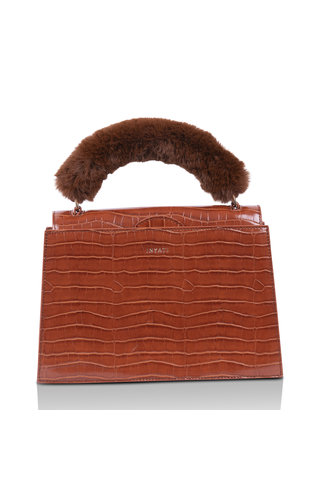 Inyati Olivia Brandy Brown Croco