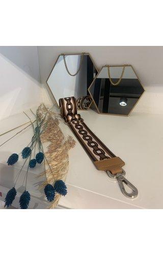 IT BAGS Chain me bag strap cognac/zilver