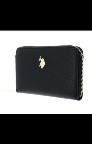 U.S. POLO ASSN. Jones Zip Around Wallet Black