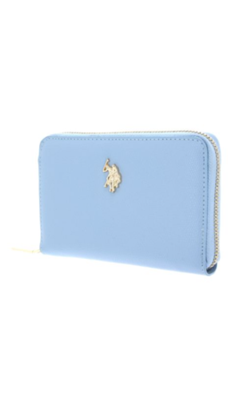 U.S. POLO ASSN. Jones Zip Around Wallet Light Blue