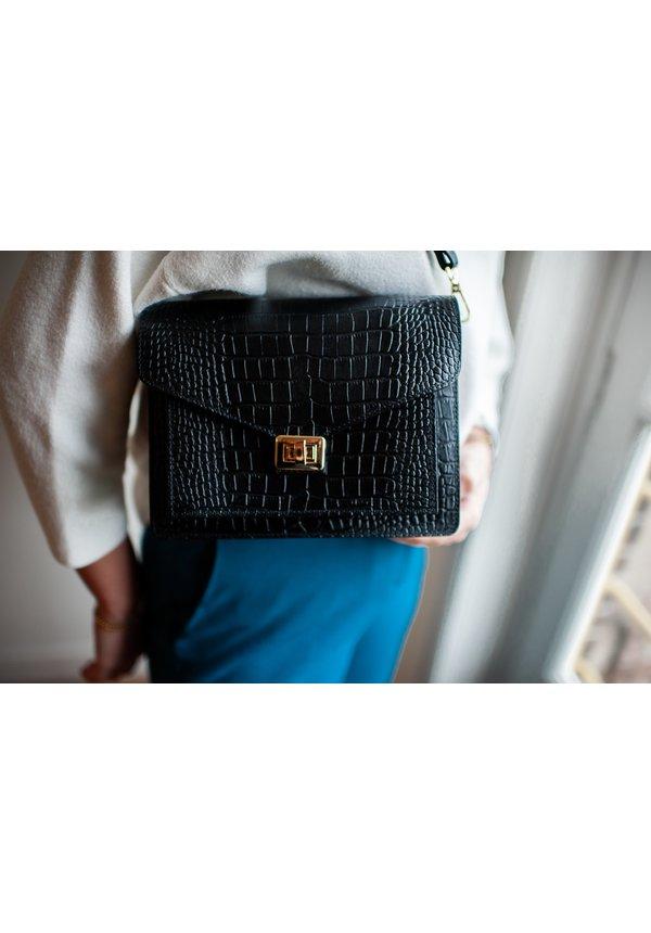 Beau Bag Croco Zwart
