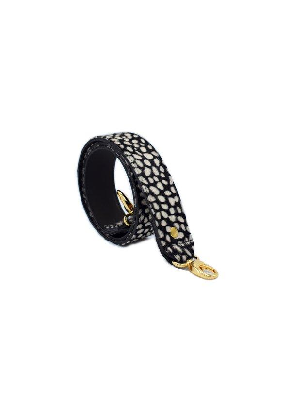 Long Bagstrap Cheeta Black
